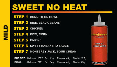 Hot Head Burritos Sweet No Heat