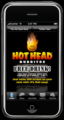 Hot Head iPhone App